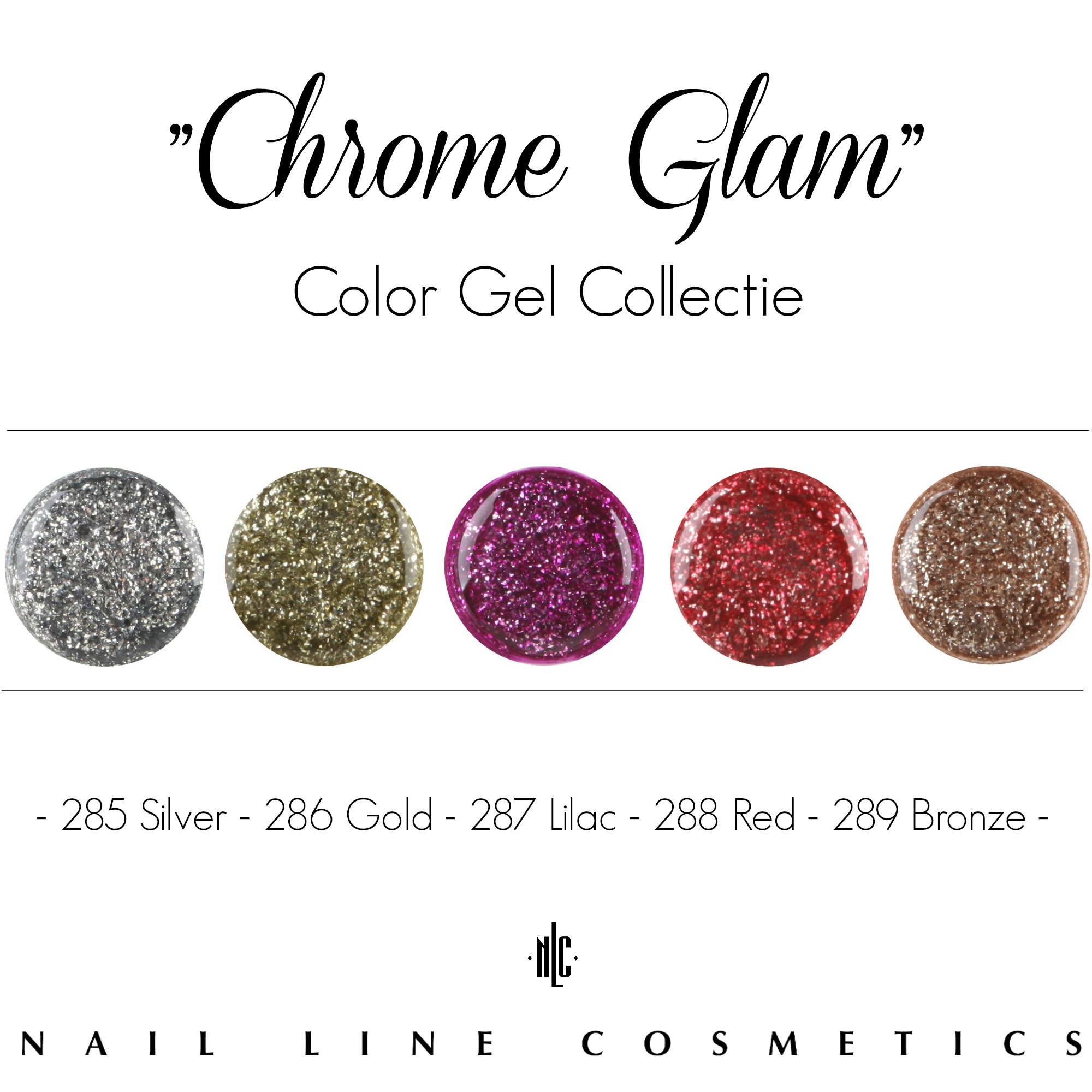 new chrome glam color gels